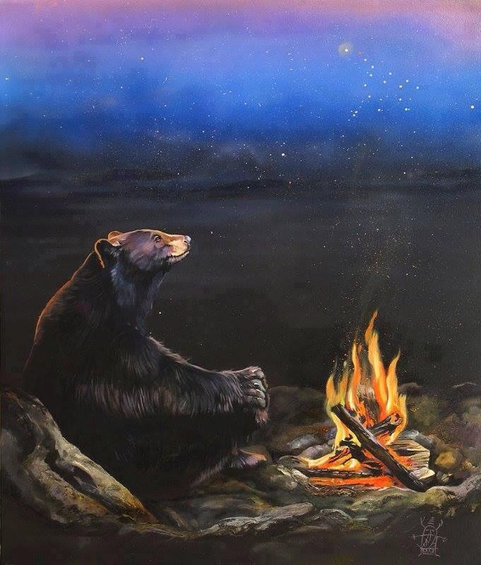 Bear at Fire