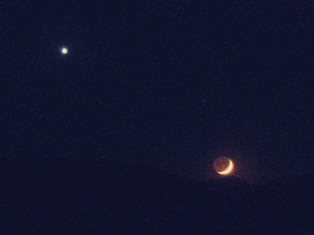 Venus and Moon Evening